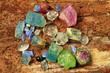 Precious stones like, aquamarine, tourmaline