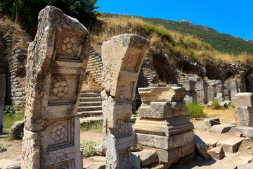 Columns in Ephesus, Turkey