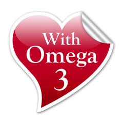 Pegatina corazon With Omega 3 con reborde