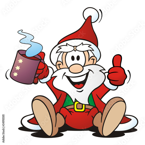 Santa with hot Drink