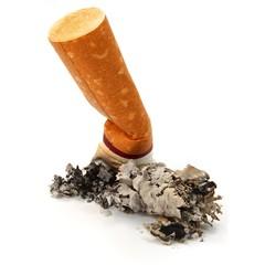 Ausgedrückte Zigarette