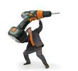 Bricolage - les outils adaptés - la visseuse géante