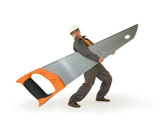 Bricolage - les outils adaptés - la scie géante