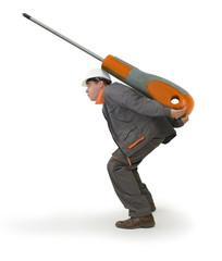Bricolage - les outils adaptés - le tournevis géant