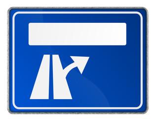 Autobahnschild Abfahrt