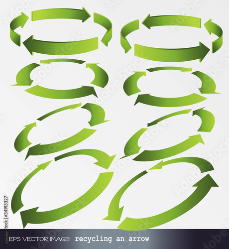 eps Vector image: recycling an arrow