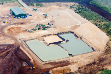 Commercial gravelpit with artificial pond