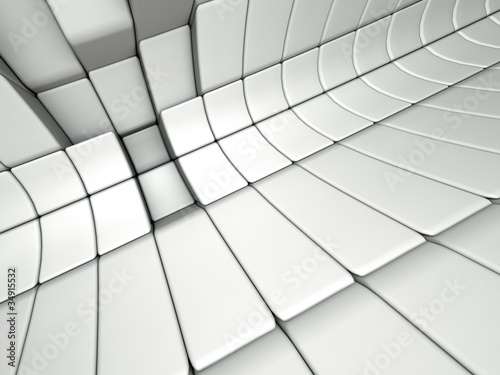 An abstract 3d architectural design