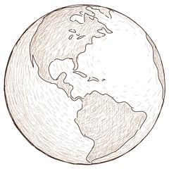 globo disegnato