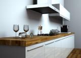 Küchendesign - Küche weiss