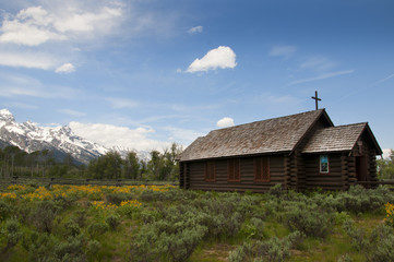 The Chapel of the Transfiguration Grand Tetons Nat Park Wyoming