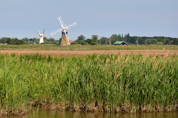 Windpumps along the River Thurne