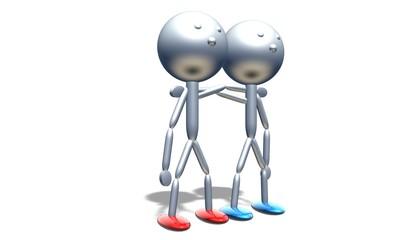 3D Freundschaft