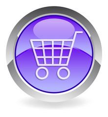 """violett vector button """"shopping cart"""""""