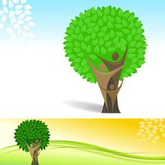 Abstract Family Tree Background