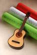 chitarra e spartiti tricolore italiano