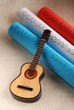 chitarra e spartiti tricolore francese
