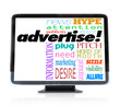 Advertise Marketing Words on HDTV Television