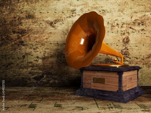 beautiful old gramophone