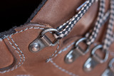 Close up of brown boot shoe