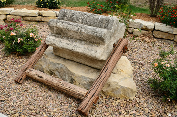 Mennonite Threshing Stone