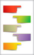 Set of colorful blank stickers.