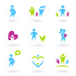 Pregnancy, Family and Parenthood icons isolated on white.