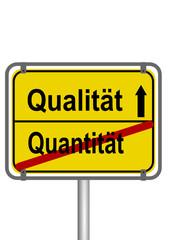 Qualität vs Quantität