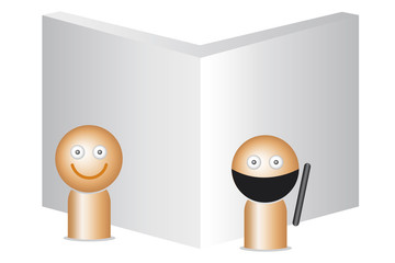 llustration man, 3D style, standing, burglar