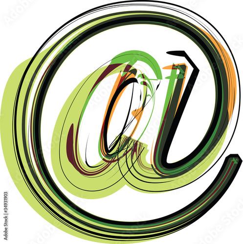 Organic Font illustration. Vector illustration
