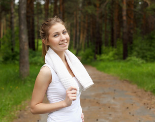 Young woman doing sport outdoors