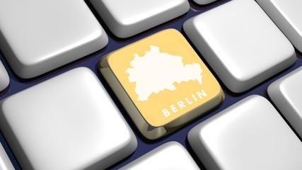 Keyboard (detail) with Berlin key