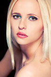 Portrait of attractive blond hair woman. Retouched