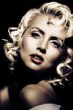 Fototapety Marilyn Monroe imitation. Retro style