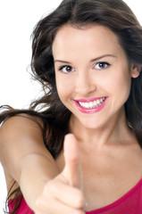 Positive junge Frau