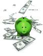 Piggy Bank Green Money
