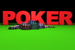 Red Poker Sign