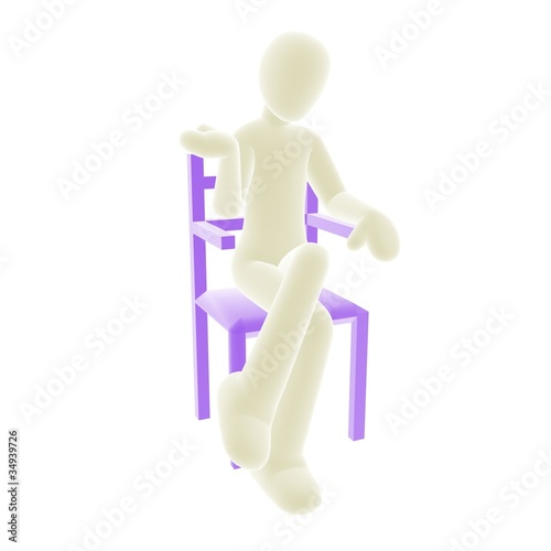 white person sitting A