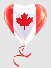 Balloon shape heart flag country Canada