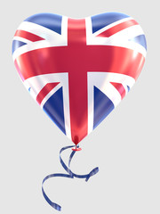 Balloon shape heart flag country great britain