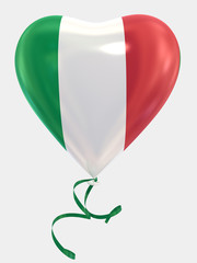 Balloon shape heart flag country Italy