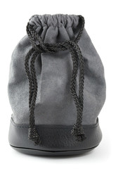 black bag on a white background