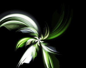Abstract art flower backdrop.