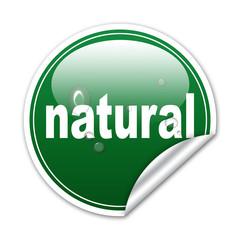 Pegatina natural con gotas de agua con reborde