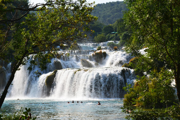 Wonderful Waterfalls of Krka Sibenik, Croatia