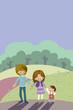 trío de niños