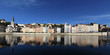 Panoramic view of Lyon and Saone River