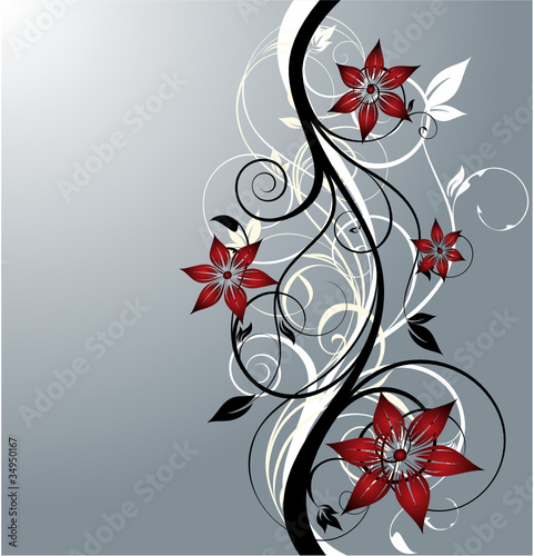 floral illustration for design