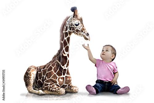 Giraffenkind Menschenkind