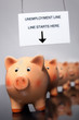Piggy-banks out of work